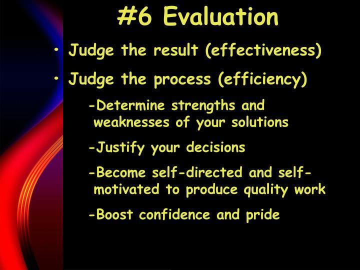 #6 Evaluation