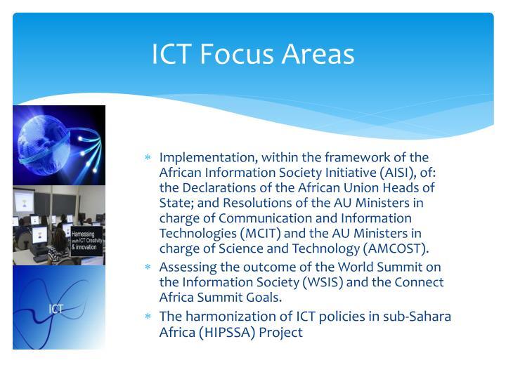ICT Focus Areas