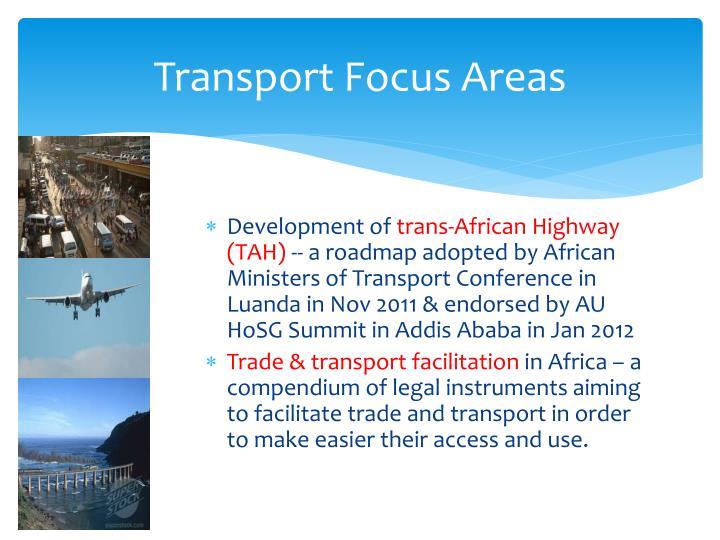 Transport Focus Areas