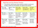 2008 year end pay review timeline