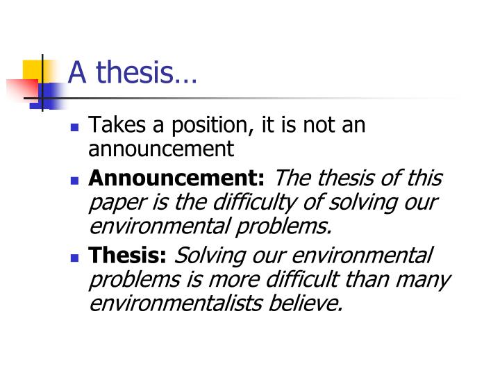 A thesis…