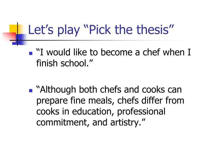"""Let's play """"Pick the thesis"""""""