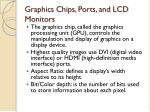 graphics chips ports and lcd monitors
