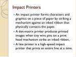 impact printers