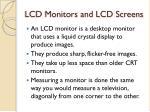 lcd monitors and lcd screens