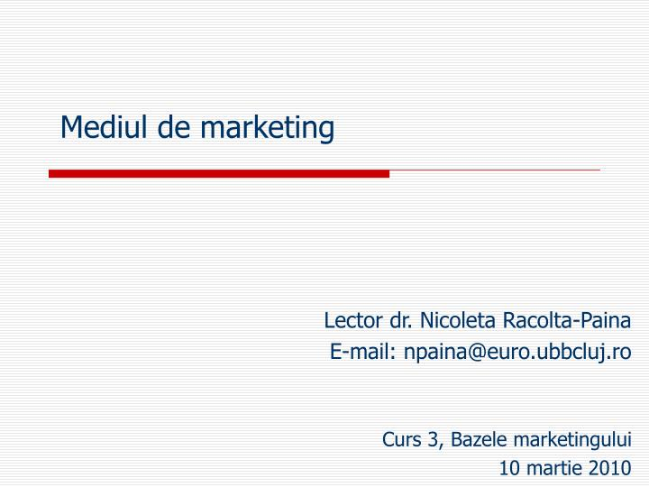 Mediul de marketing