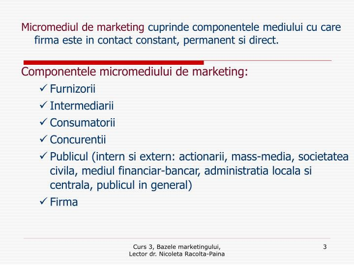 Micromediul de marketing