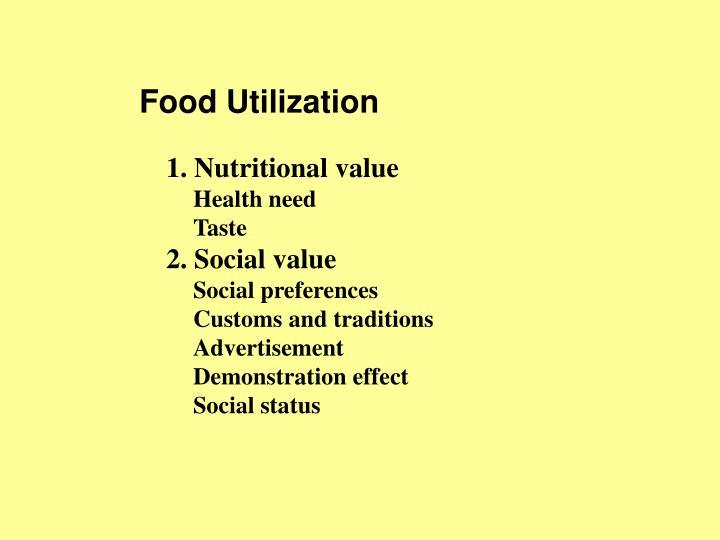 Food Utilization