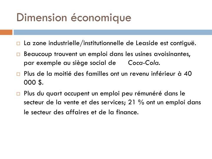Dimension économique