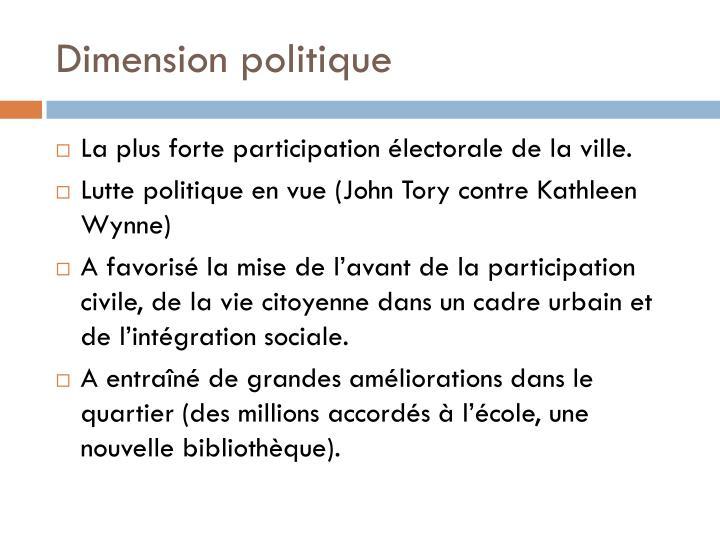 Dimension politique
