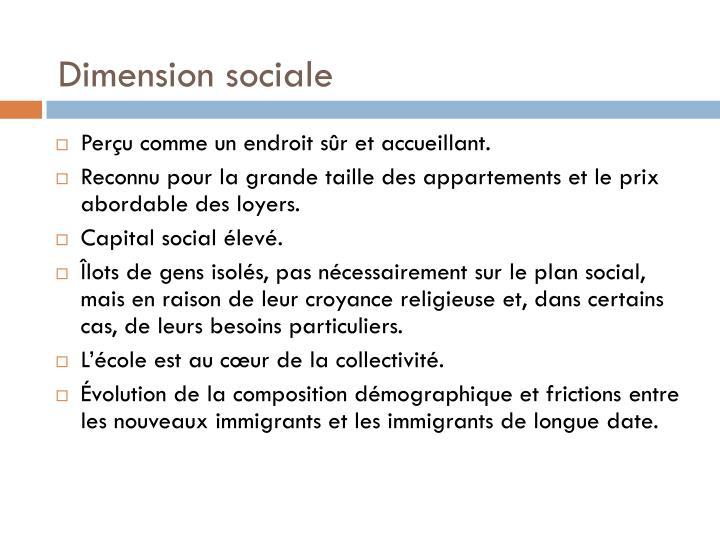 Dimension sociale
