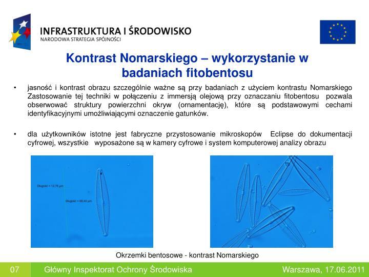 Kontrast Nomarskiego – wykorzystanie w badaniach fitobentosu