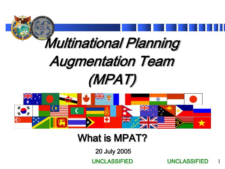 Multinational Planning