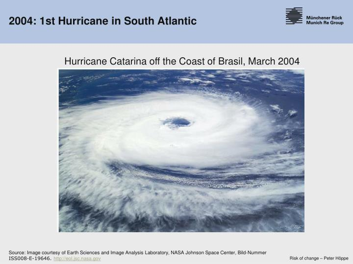 2004: 1st Hurricane in South Atlantic