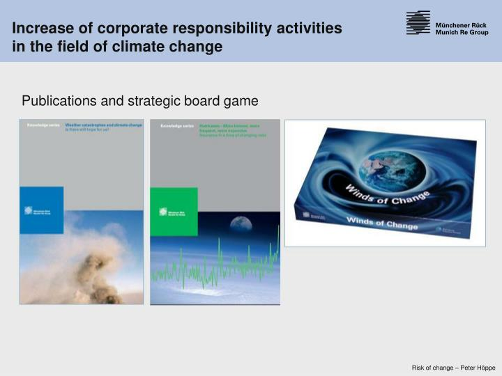Increase of corporate responsibility activities