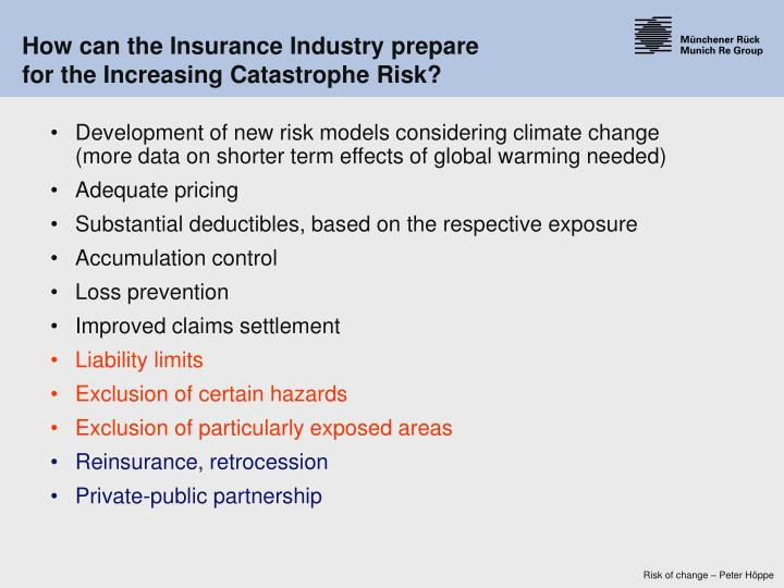 How can the Insurance Industry prepare