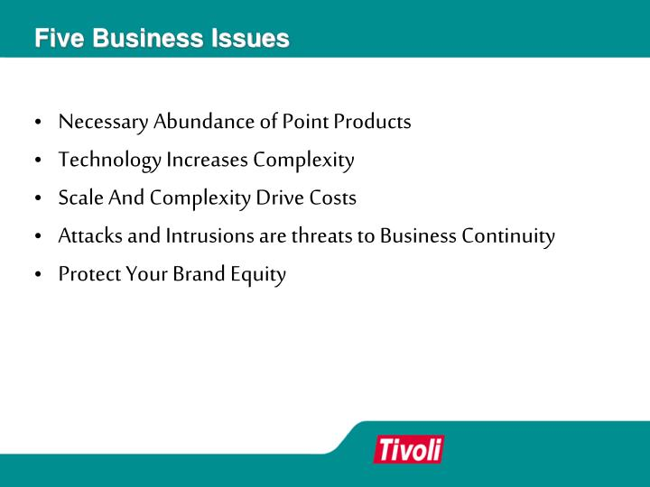 Five Business Issues