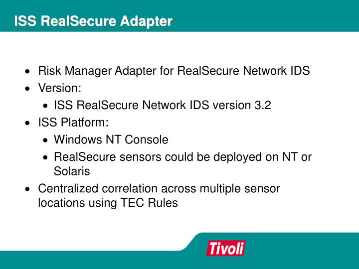 ISS RealSecure Adapter