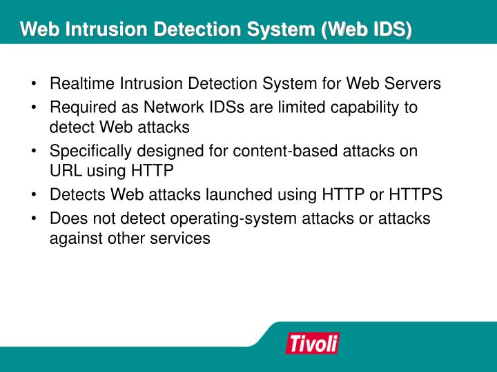 Web Intrusion Detection System (Web IDS)