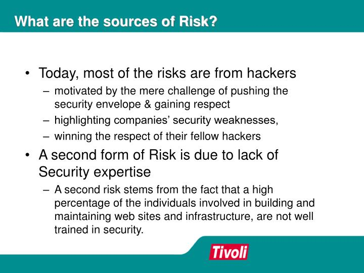 What are the sources of Risk?