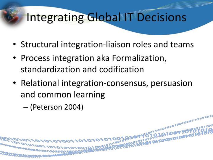 Integrating Global IT Decisions