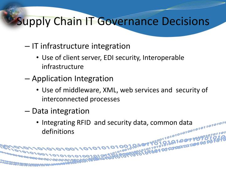 Supply Chain IT Governance Decisions