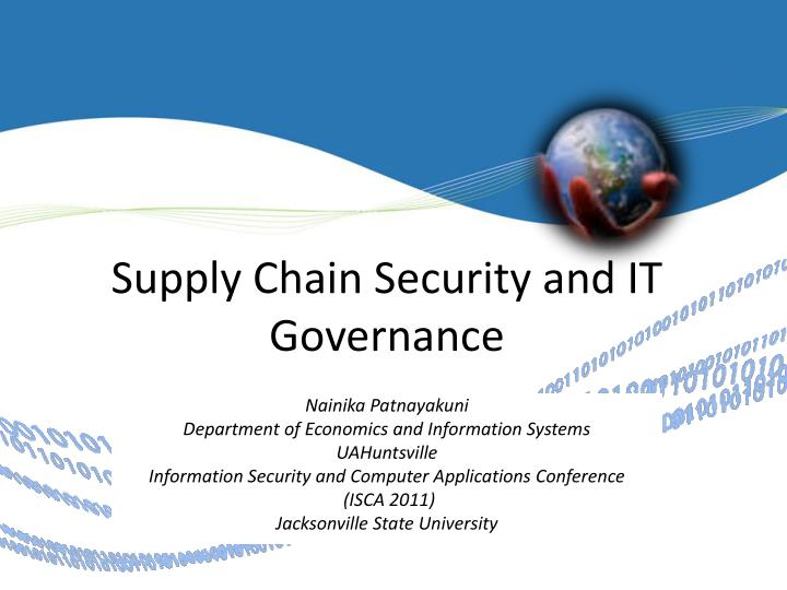 Supply Chain Security and IT