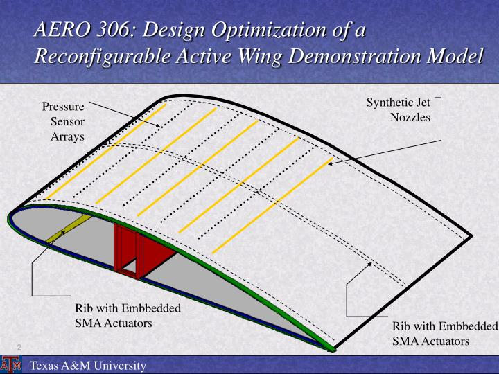 AERO 306: Design Optimization of a Reconfigurable Active Wing Demonstration Model