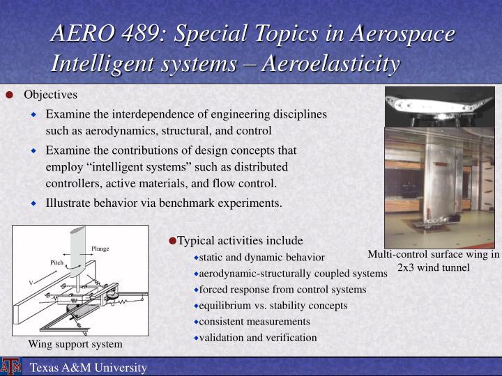 AERO 489: Special Topics in Aerospace Intelligent systems – Aeroelasticity