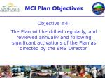 mci plan objectives3