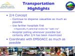 transportation highlights