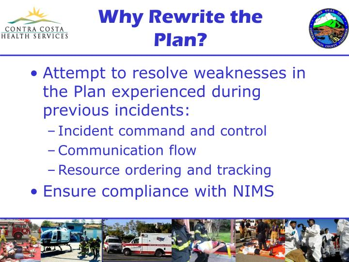 Why Rewrite the Plan?