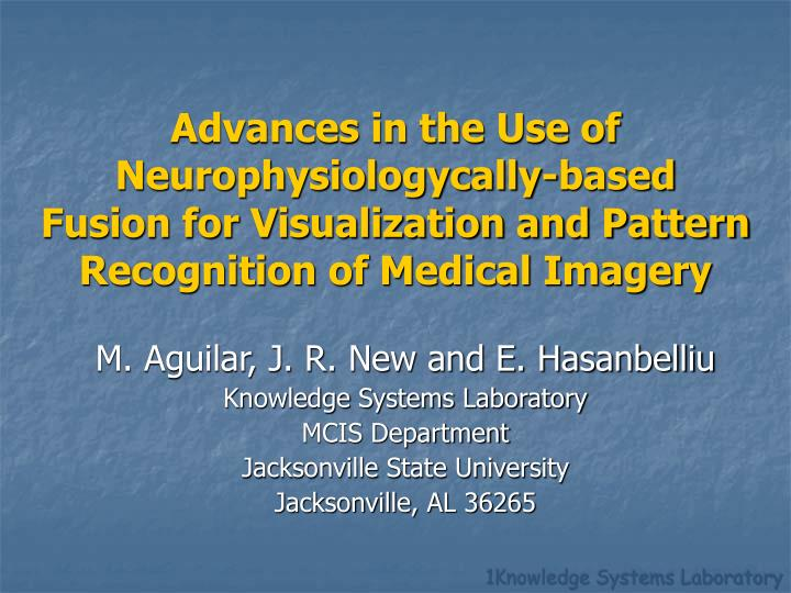 Advances in the Use of Neurophysiologycally-based