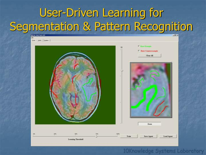 User-Driven Learning for Segmentation & Pattern Recognition