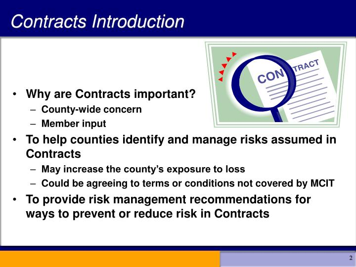 Contracts Introduction