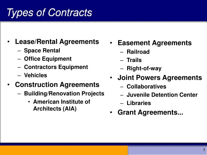 Lease/Rental Agreements