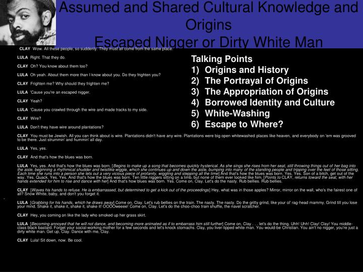 Assumed and Shared Cultural Knowledge and Origins