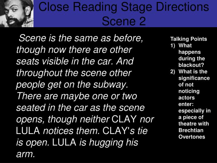Close Reading Stage Directions