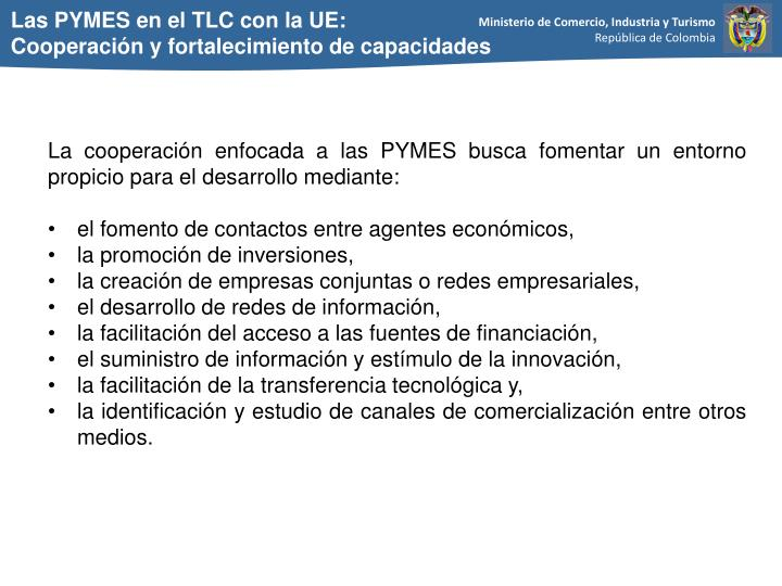 Las PYMES en el TLC con la UE: