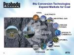 btu conversion technologies expand markets for coal