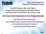 coal cornerstone to america s energy security