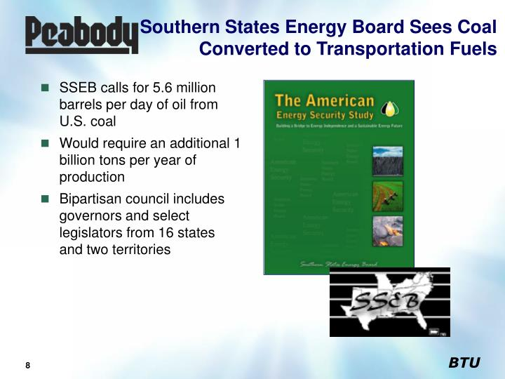 Southern States Energy Board Sees Coal Converted to Transportation Fuels
