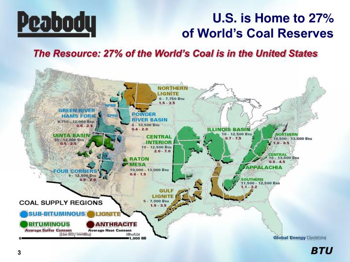 U s is home to 27 of world s coal reserves