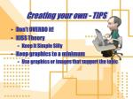 creating your own tips1