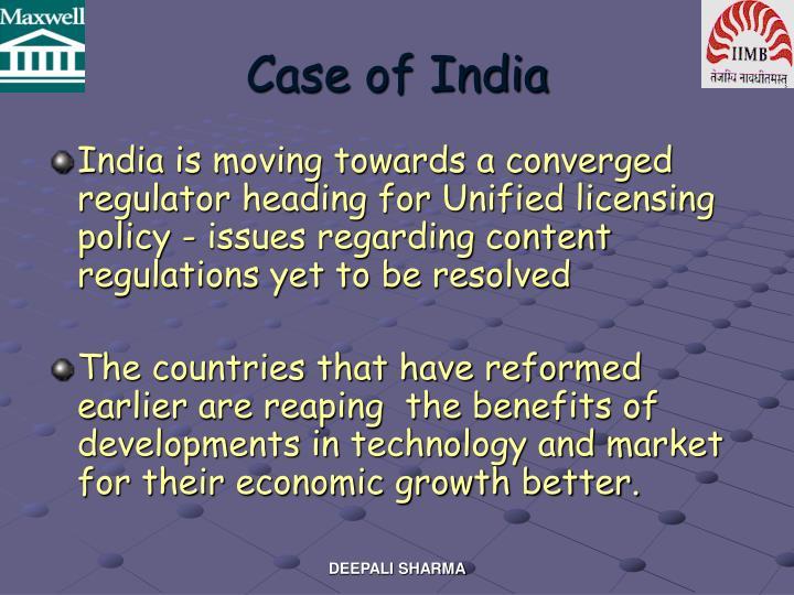 Case of India