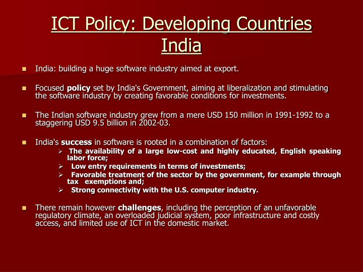 ICT Policy: Developing Countries