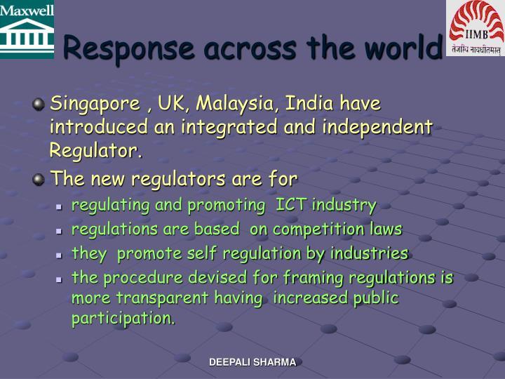 Response across the world