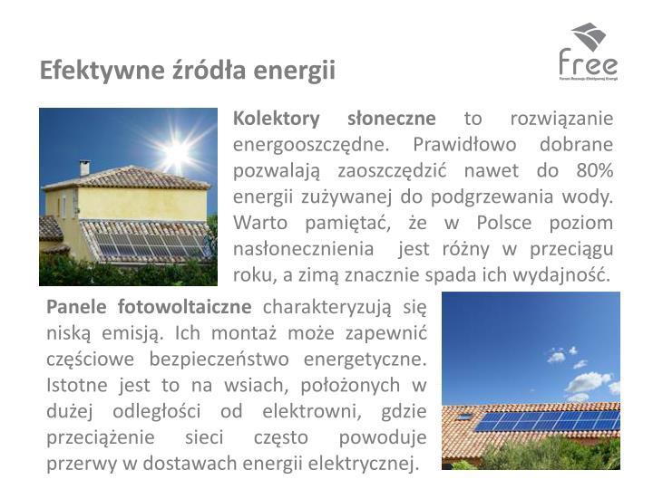 Efektywne źródła energii