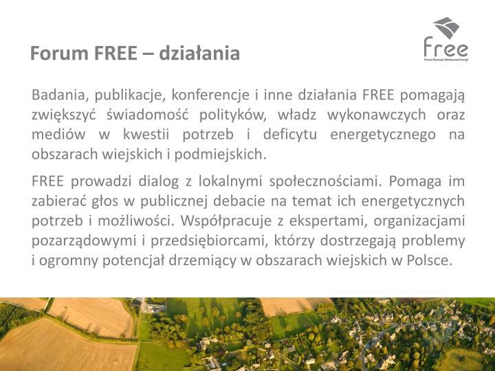 Forum FREE – działania