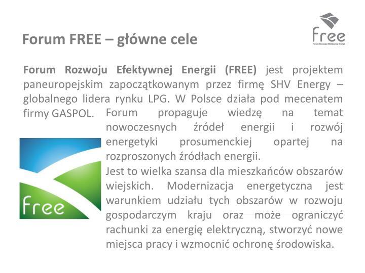Forum FREE – główne cele